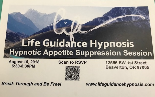 Life Guidance Hypnosis: Hypnotic Appetite Suppression Session