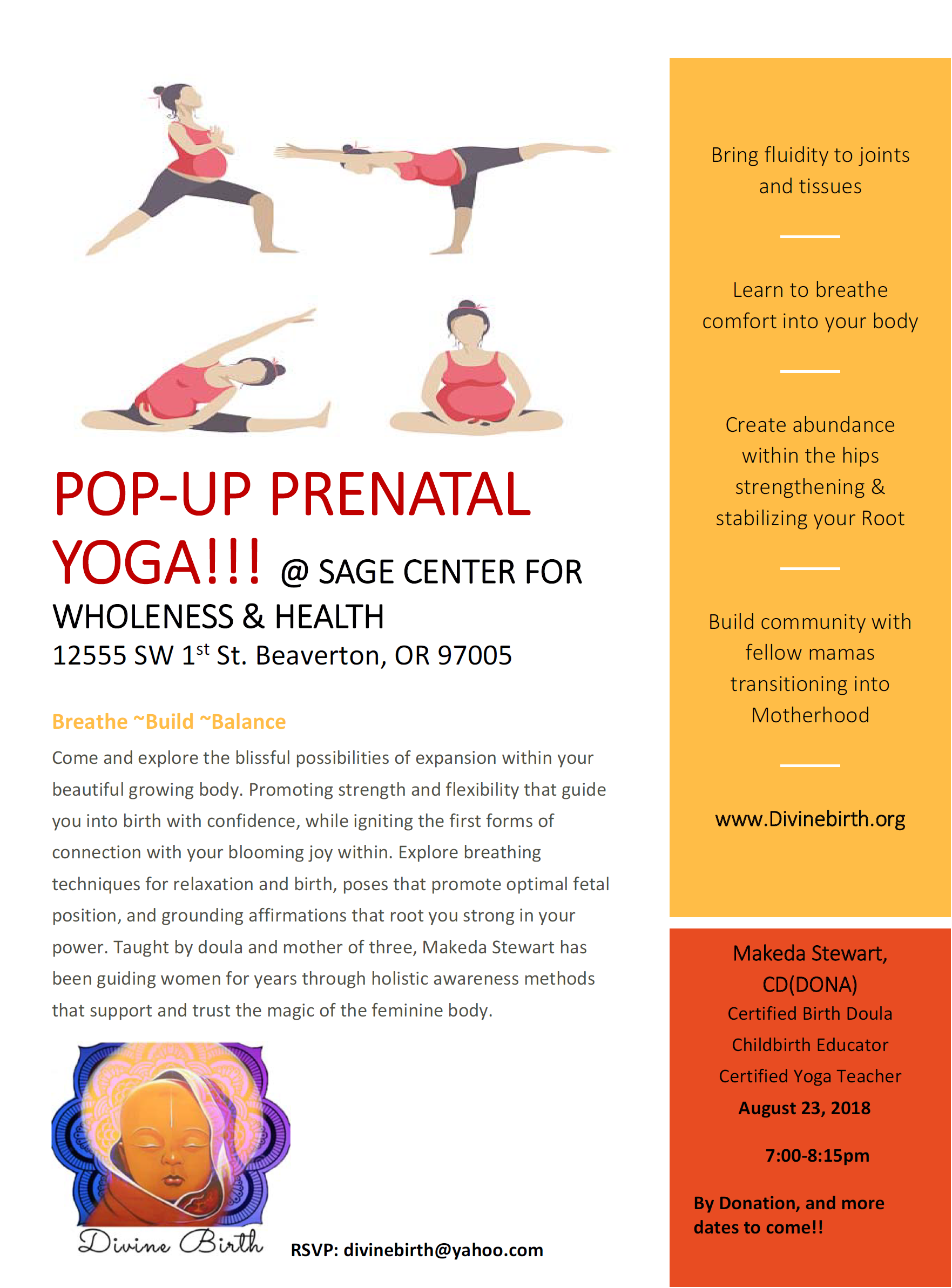 Pop-Up Prenatal Yoga