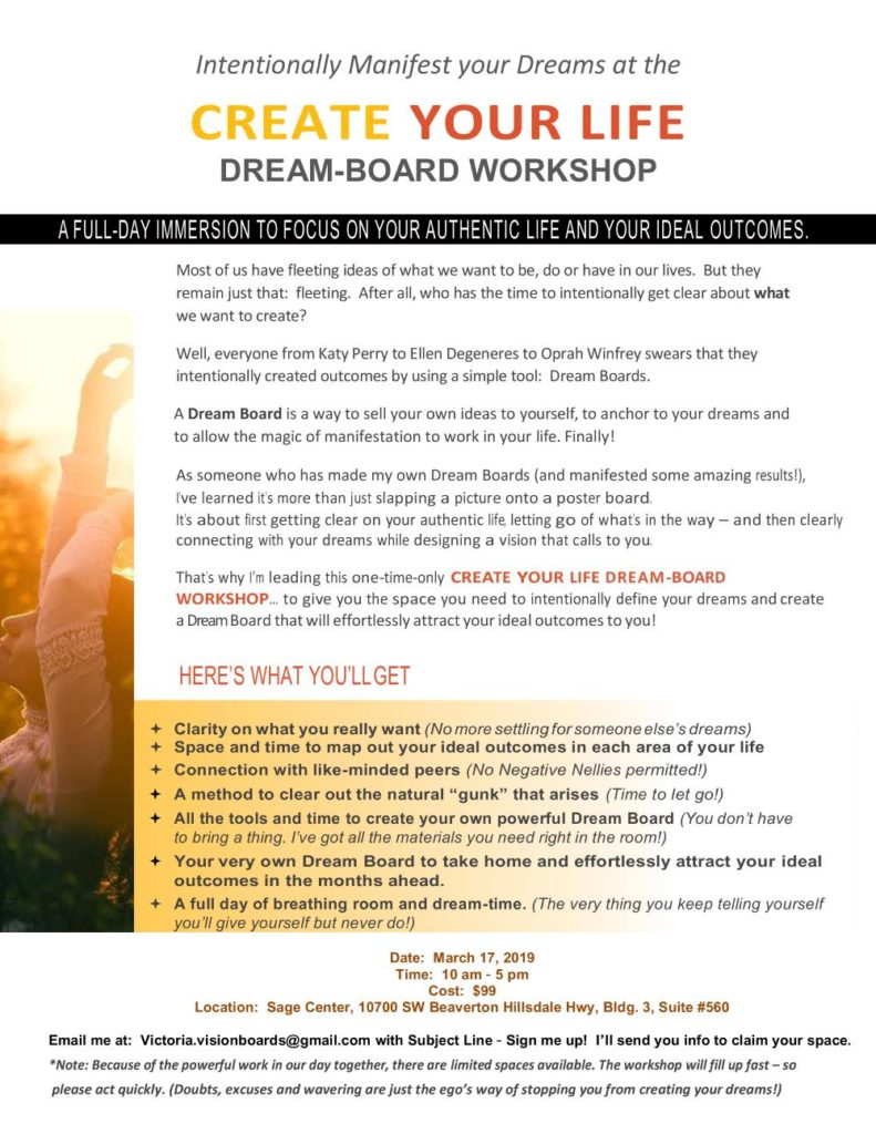 Create Your Life - Dream-Board Workshop